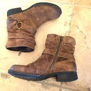 Born Cory tassel brown leather boot zip up 8